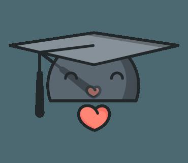 Graduation Cap Emoji KissYou