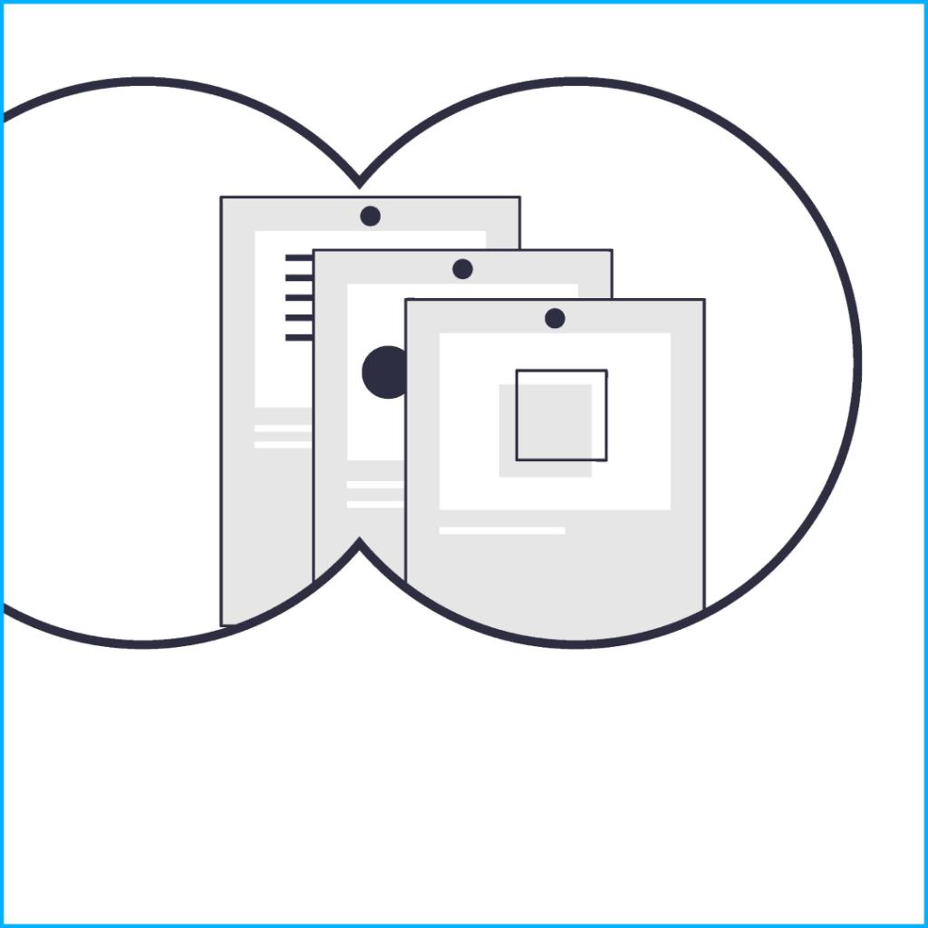 Gray Dokuments in binocular view, Storyboard Frame