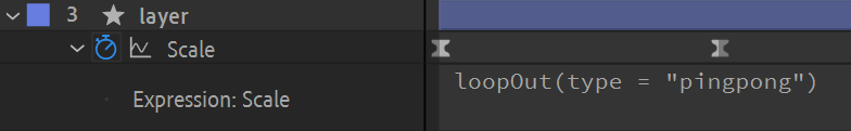 """After Effects screenshot: loopOut(type = """"pingpong"""")"""